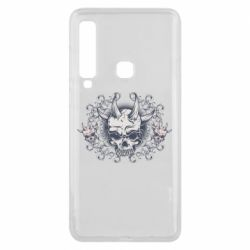 Чохол для Samsung A9 2018 Skull with horns and patterns