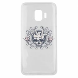 Чохол для Samsung J2 Core Skull with horns and patterns