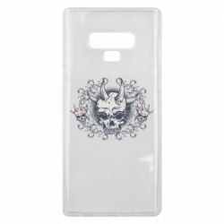 Чохол для Samsung Note 9 Skull with horns and patterns