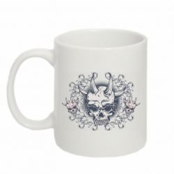 Кружка 320ml Skull with horns and patterns