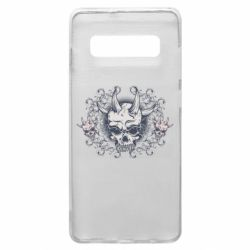 Чохол для Samsung S10+ Skull with horns and patterns