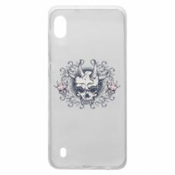 Чохол для Samsung A10 Skull with horns and patterns