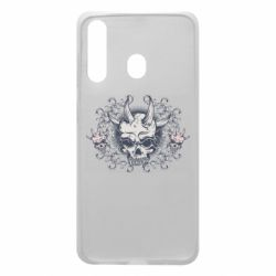 Чохол для Samsung A60 Skull with horns and patterns