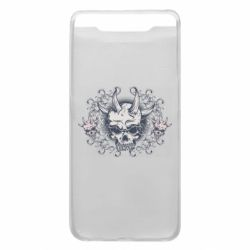 Чохол для Samsung A80 Skull with horns and patterns