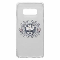 Чохол для Samsung S10e Skull with horns and patterns