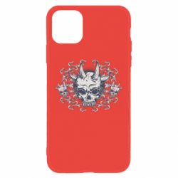Чохол для iPhone 11 Skull with horns and patterns