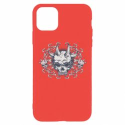 Чохол для iPhone 11 Pro Max Skull with horns and patterns