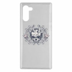 Чохол для Samsung Note 10 Skull with horns and patterns