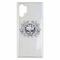 Чохол для Samsung Note 10 Plus Skull with horns and patterns
