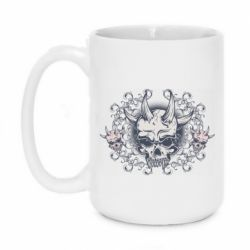 Кружка 420ml Skull with horns and patterns