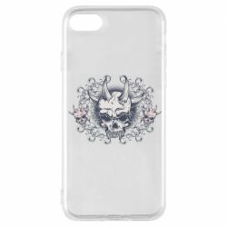 Чохол для iPhone 7 Skull with horns and patterns