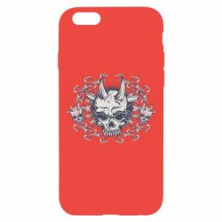 Чохол для iPhone 6/6S Skull with horns and patterns