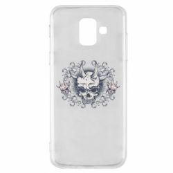 Чохол для Samsung A6 2018 Skull with horns and patterns