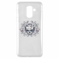 Чохол для Samsung A6+ 2018 Skull with horns and patterns
