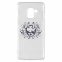 Чохол для Samsung A8 2018 Skull with horns and patterns