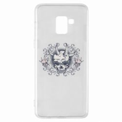 Чохол для Samsung A8+ 2018 Skull with horns and patterns