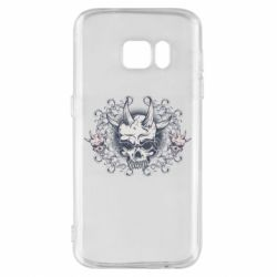 Чохол для Samsung S7 Skull with horns and patterns