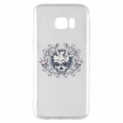 Чохол для Samsung S7 EDGE Skull with horns and patterns