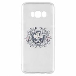 Чохол для Samsung S8 Skull with horns and patterns