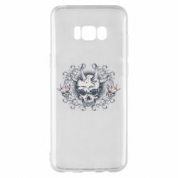 Чохол для Samsung S8+ Skull with horns and patterns