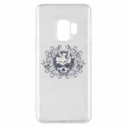 Чохол для Samsung S9 Skull with horns and patterns