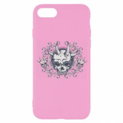 Чохол для iPhone 8 Skull with horns and patterns