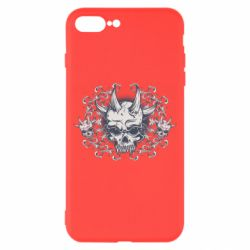 Чохол для iPhone 8 Plus Skull with horns and patterns