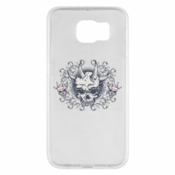 Чохол для Samsung S6 Skull with horns and patterns