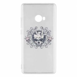 Чохол для Xiaomi Mi Note 2 Skull with horns and patterns