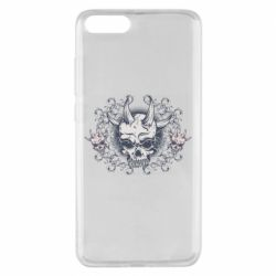 Чохол для Xiaomi Mi Note 3 Skull with horns and patterns