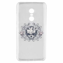 Чохол для Xiaomi Redmi Note 4 Skull with horns and patterns