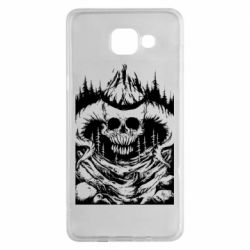 Чехол для Samsung A5 2016 Skull with horns in the forest