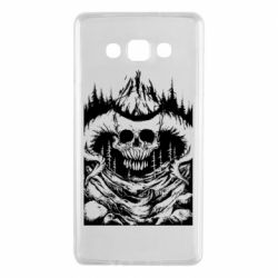 Чехол для Samsung A7 2015 Skull with horns in the forest
