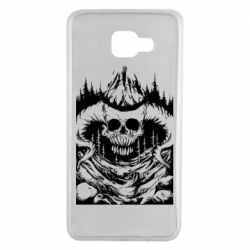 Чехол для Samsung A7 2016 Skull with horns in the forest