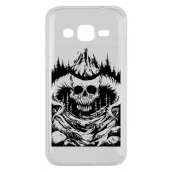Чехол для Samsung J2 2015 Skull with horns in the forest