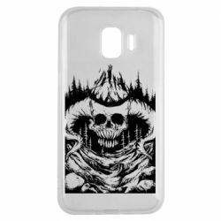 Чехол для Samsung J2 2018 Skull with horns in the forest