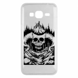 Чехол для Samsung J3 2016 Skull with horns in the forest
