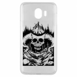 Чехол для Samsung J4 Skull with horns in the forest