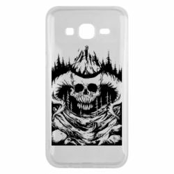 Чехол для Samsung J5 2015 Skull with horns in the forest