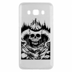 Чехол для Samsung J5 2016 Skull with horns in the forest