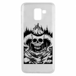 Чехол для Samsung J6 Skull with horns in the forest