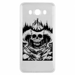 Чехол для Samsung J7 2016 Skull with horns in the forest