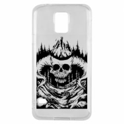 Чехол для Samsung S5 Skull with horns in the forest