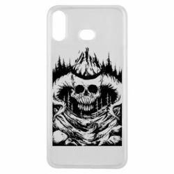Чехол для Samsung A6s Skull with horns in the forest