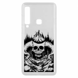 Чехол для Samsung A9 2018 Skull with horns in the forest