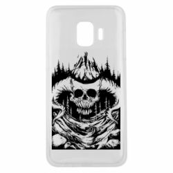 Чехол для Samsung J2 Core Skull with horns in the forest
