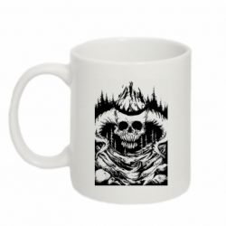 Кружка 320ml Skull with horns in the forest