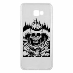 Чехол для Samsung J4 Plus 2018 Skull with horns in the forest