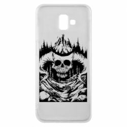 Чехол для Samsung J6 Plus 2018 Skull with horns in the forest