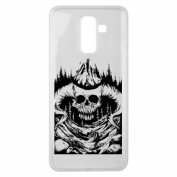 Чехол для Samsung J8 2018 Skull with horns in the forest